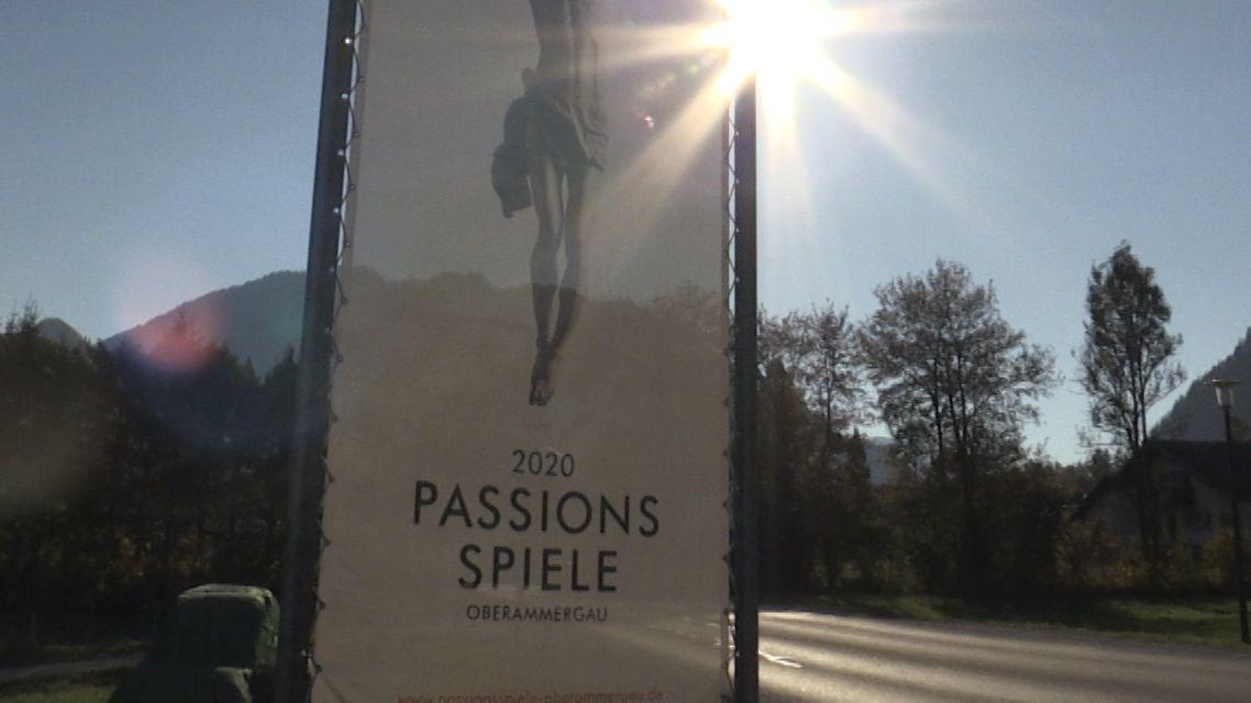 Plakat zu den Oberammergauer Passionsspielen
