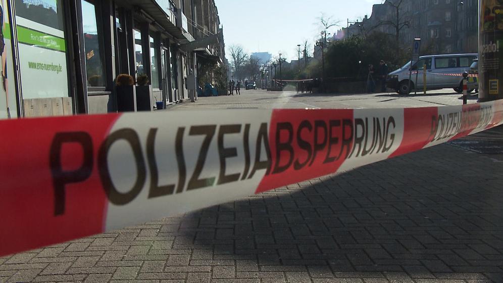 Absperrband am Tatort in Nürnberg | Bild:BR