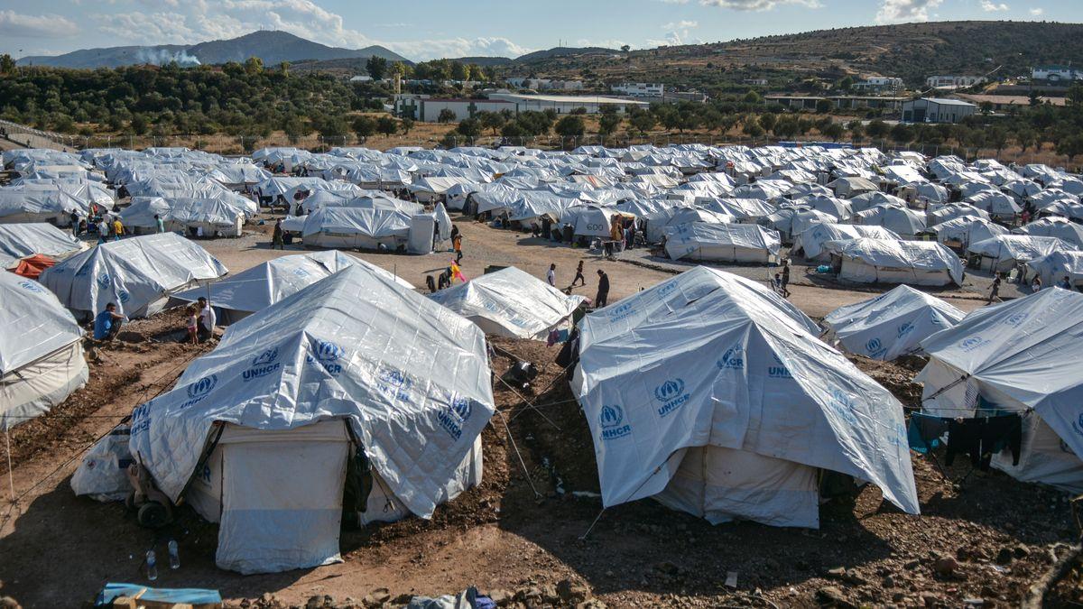 In einem solchen Flüchtlingslager auf Lesbos hat die Familie zuletzt gelebt.