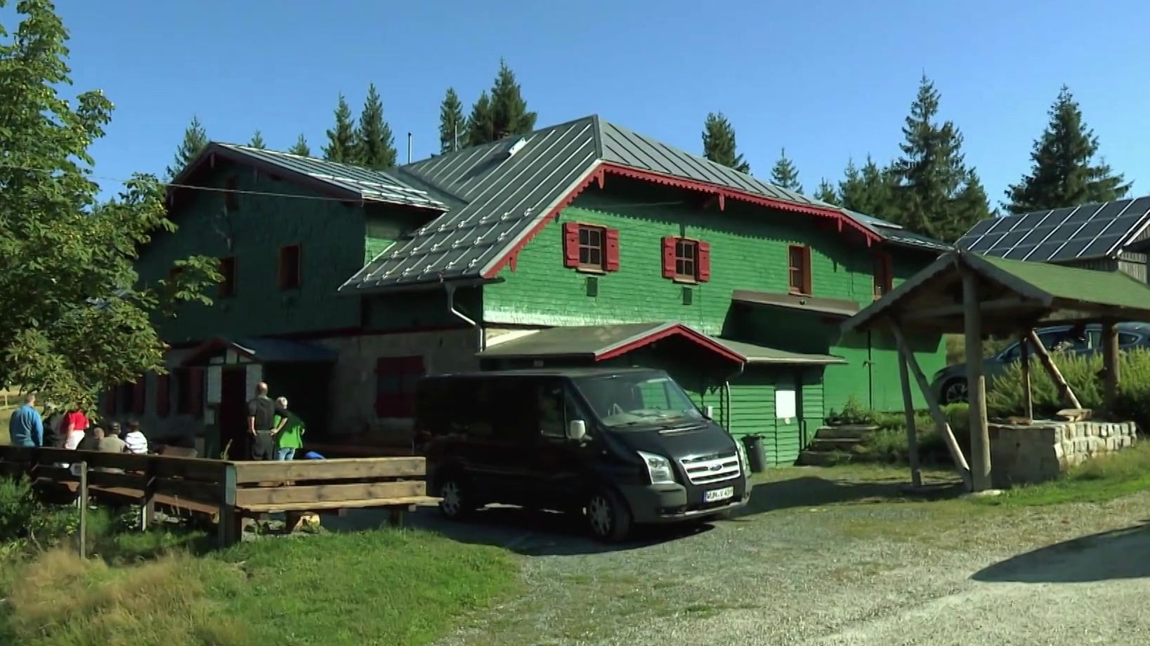 Das Seehaus im Fichtelgebirge mit Gästen