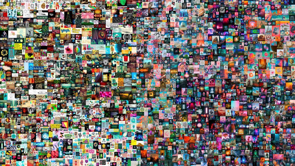Eine Collage aus 5.000 Einzelteilen.