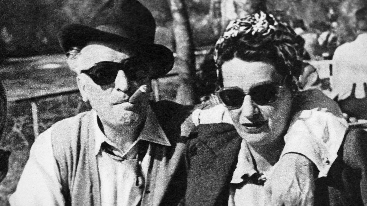 Hans Albers und Hansi Burg, 1952.