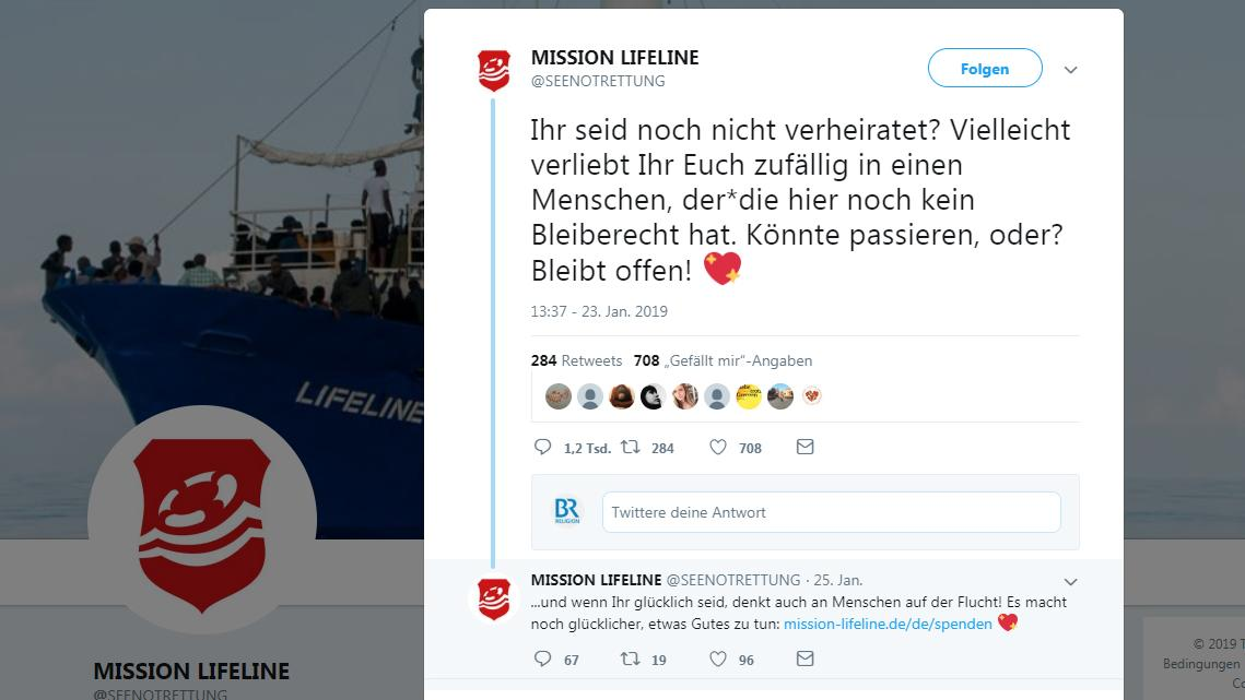 "Tweet von ""Mission Lifeline"""