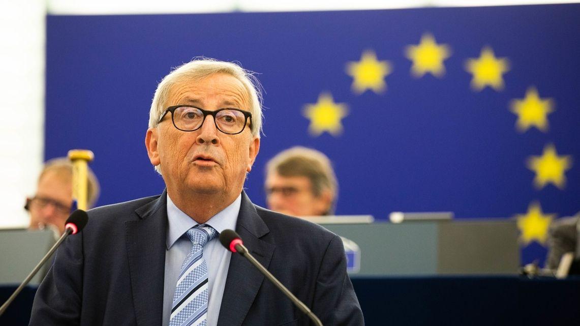 EU-Kommissionspräsident Jean-Claude Juncker bei seiner Abschiedsrede im Europaparlament