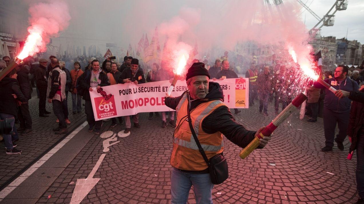 """""""Generalstreik"""" in Frankreich"""