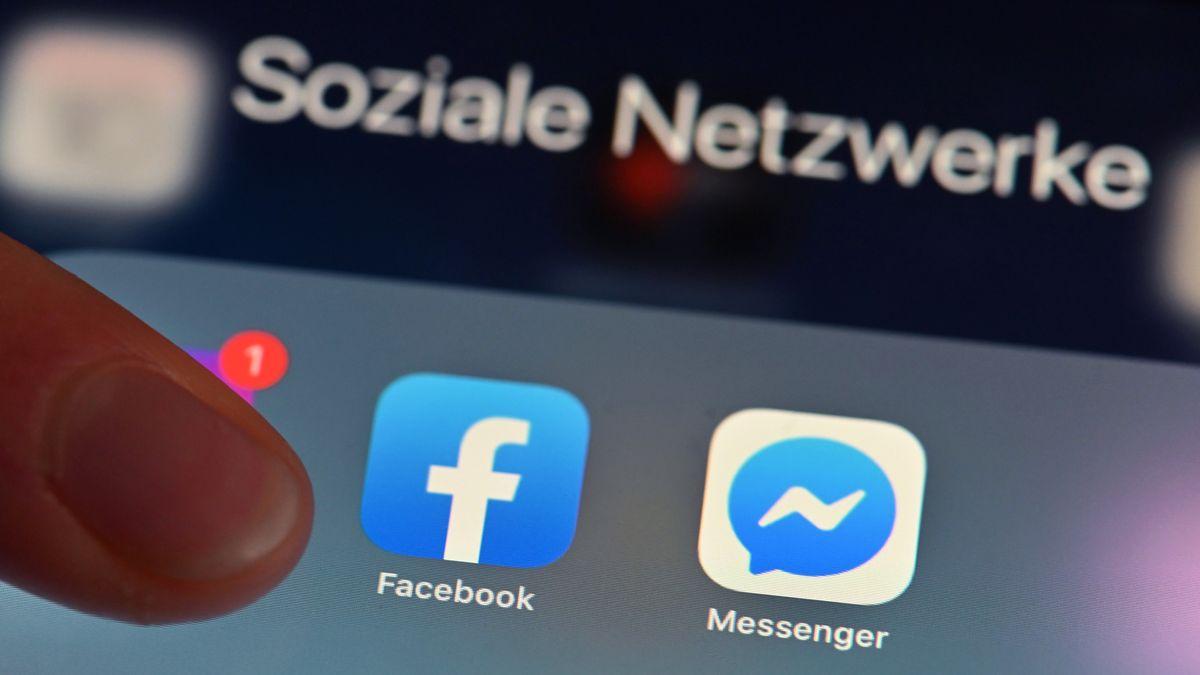 Facebook-App auf einem Tablet