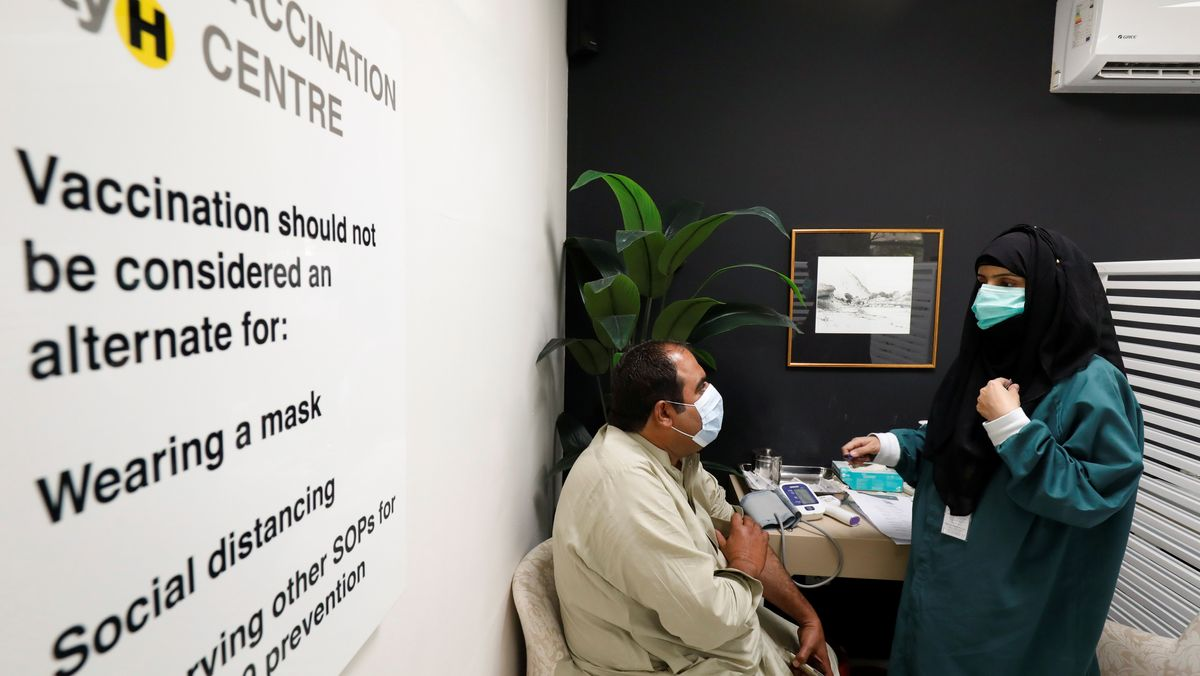 Corona-Impfung in Pakistan