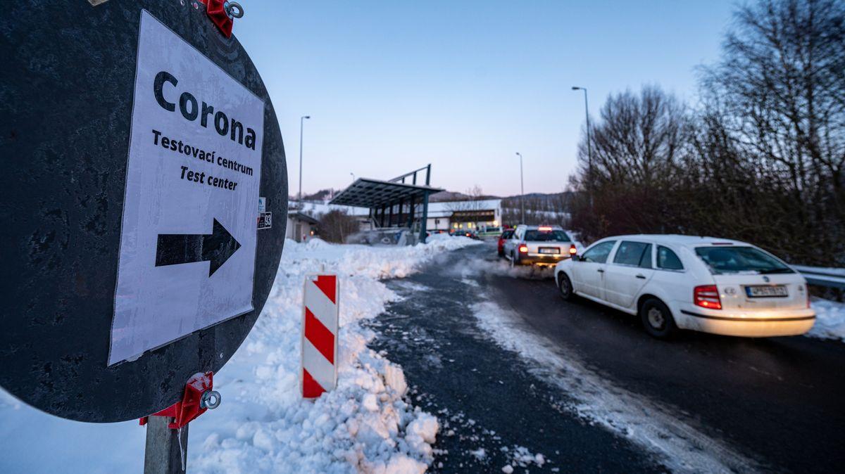 Das Corona-Testzentrum am bayerisch-tschechischen Grenzübergang Furth im Wald.