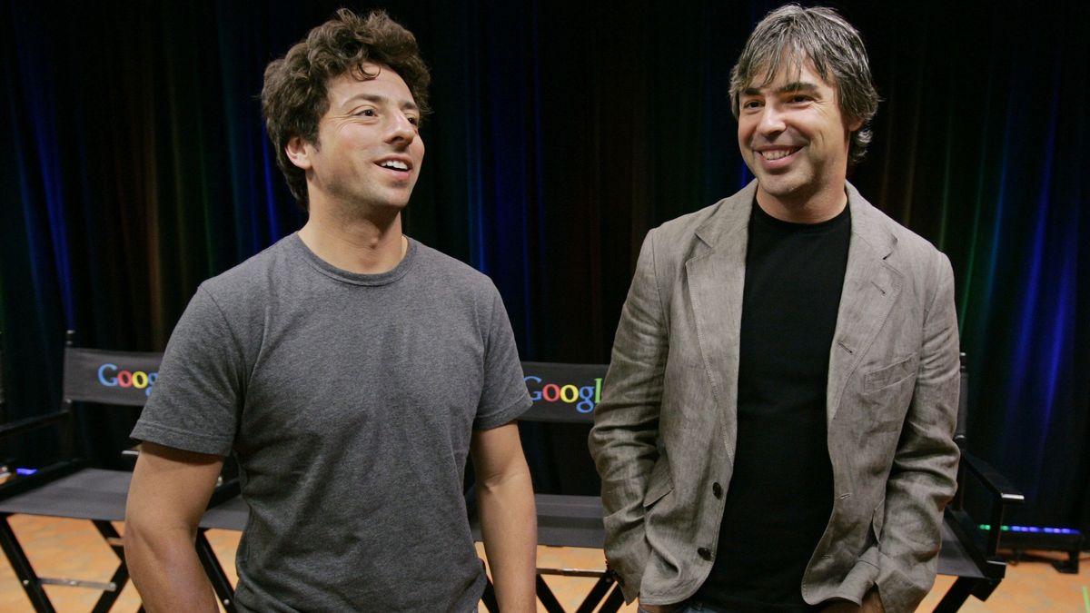 Sergey Brin und Larry Page (rechts)