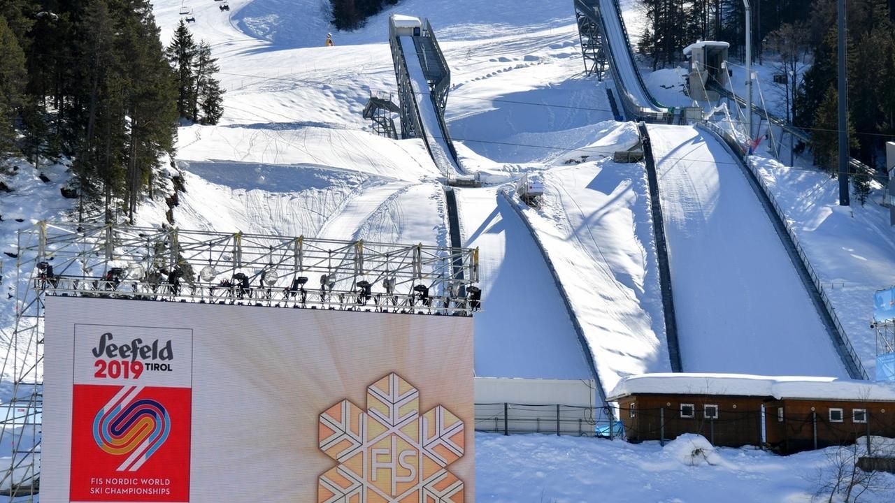 Skisprungschanzen bei der Nordischen Ski-WM in Seefeld