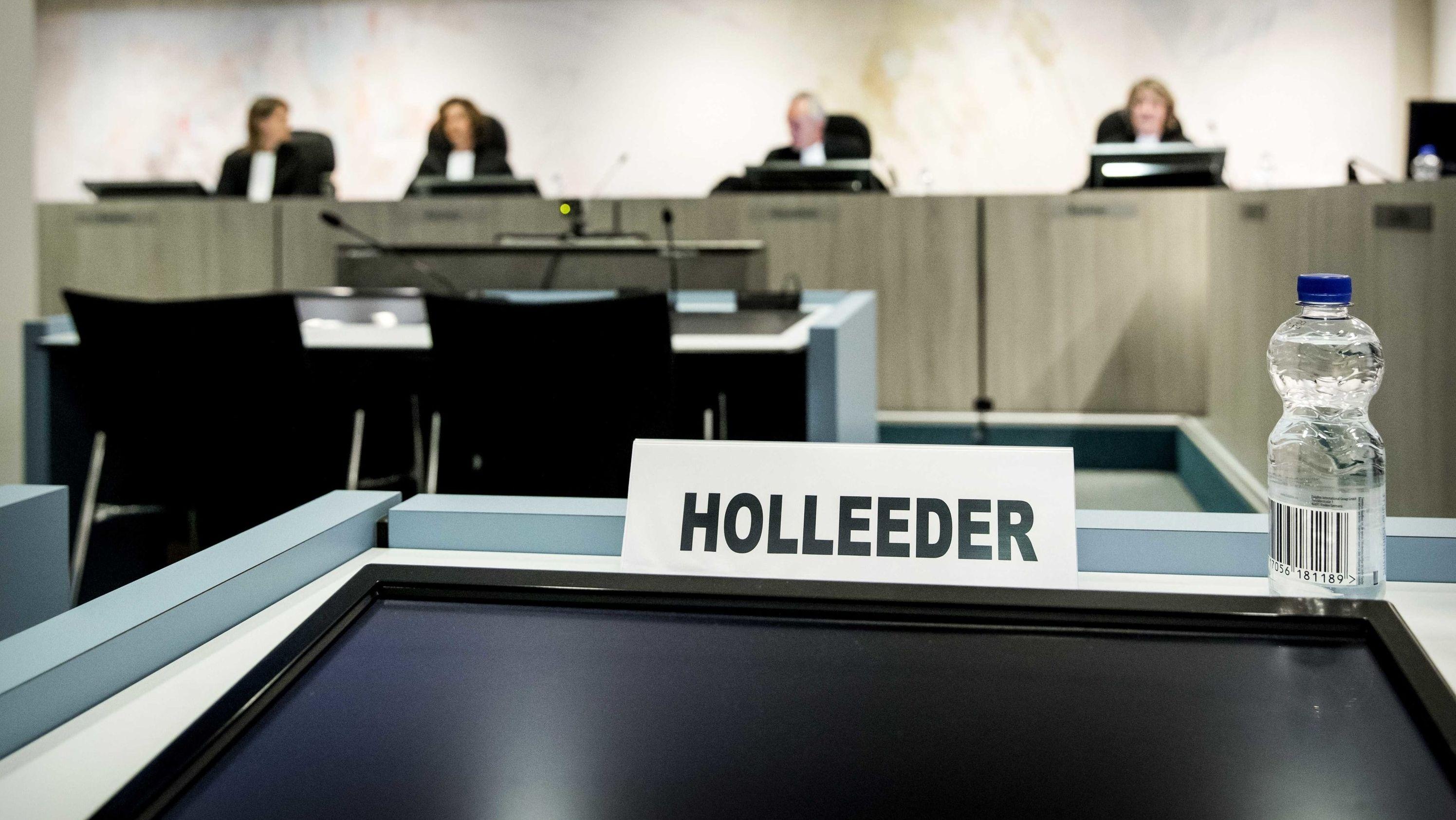 Gerichtssaal des Amsterdamer Strafgerichtes
