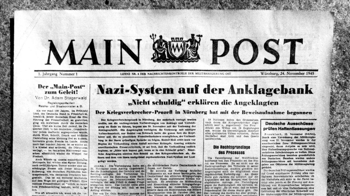 Titelseite der ersten MAin-Post-Ausgabe vom 24.11.1945