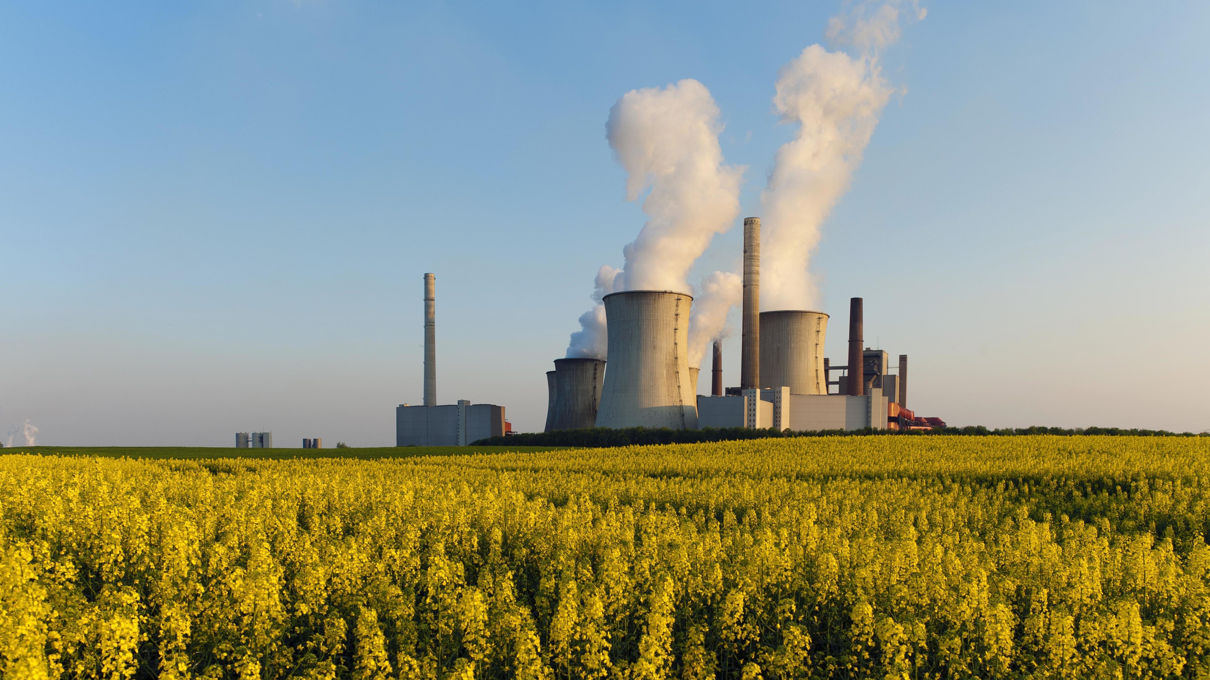 Das Braunkohlekraftwerk Neurath in Nordrhein-Westfalen.