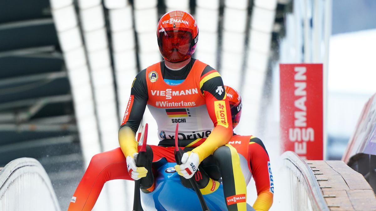 Rodel-Doppelsitzer Toni Eggert und Sascha Benecken