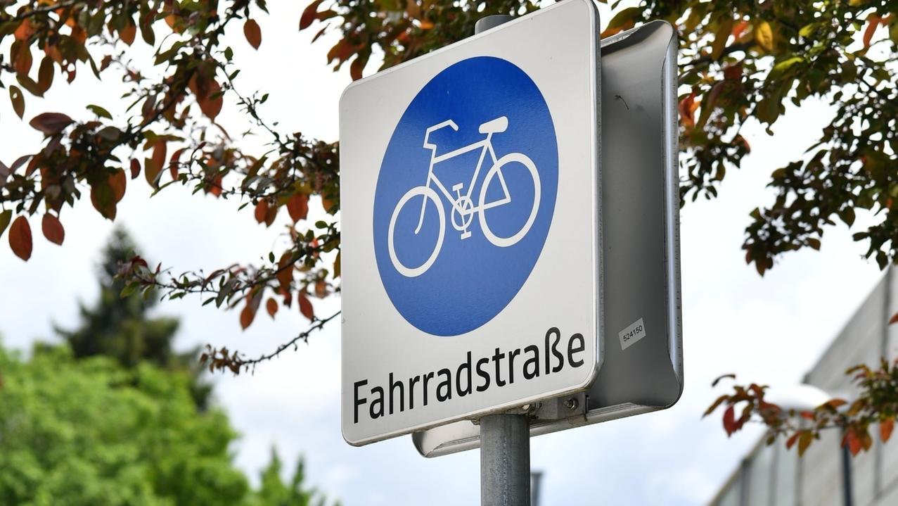 Beschilderung einer Fahrradstraße
