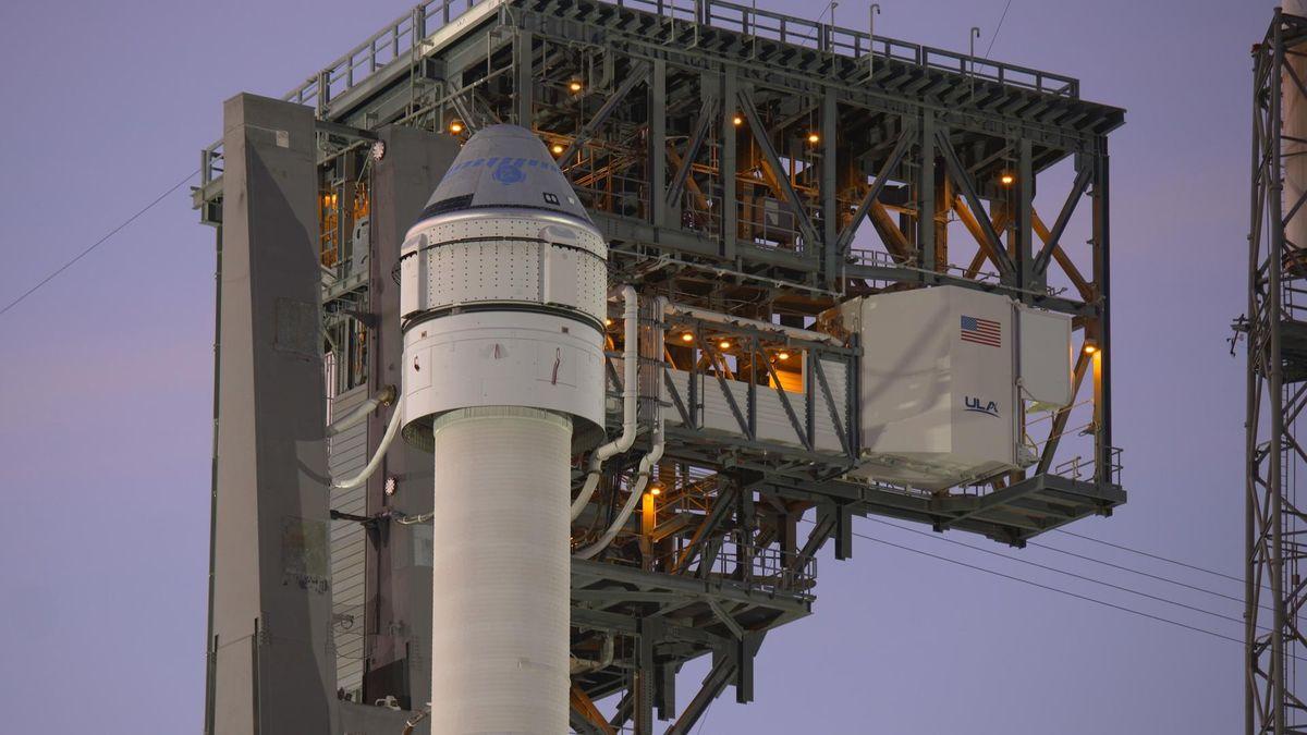 Raumkapsel CST-100 Starliner auf einer Atlas V-Rakete
