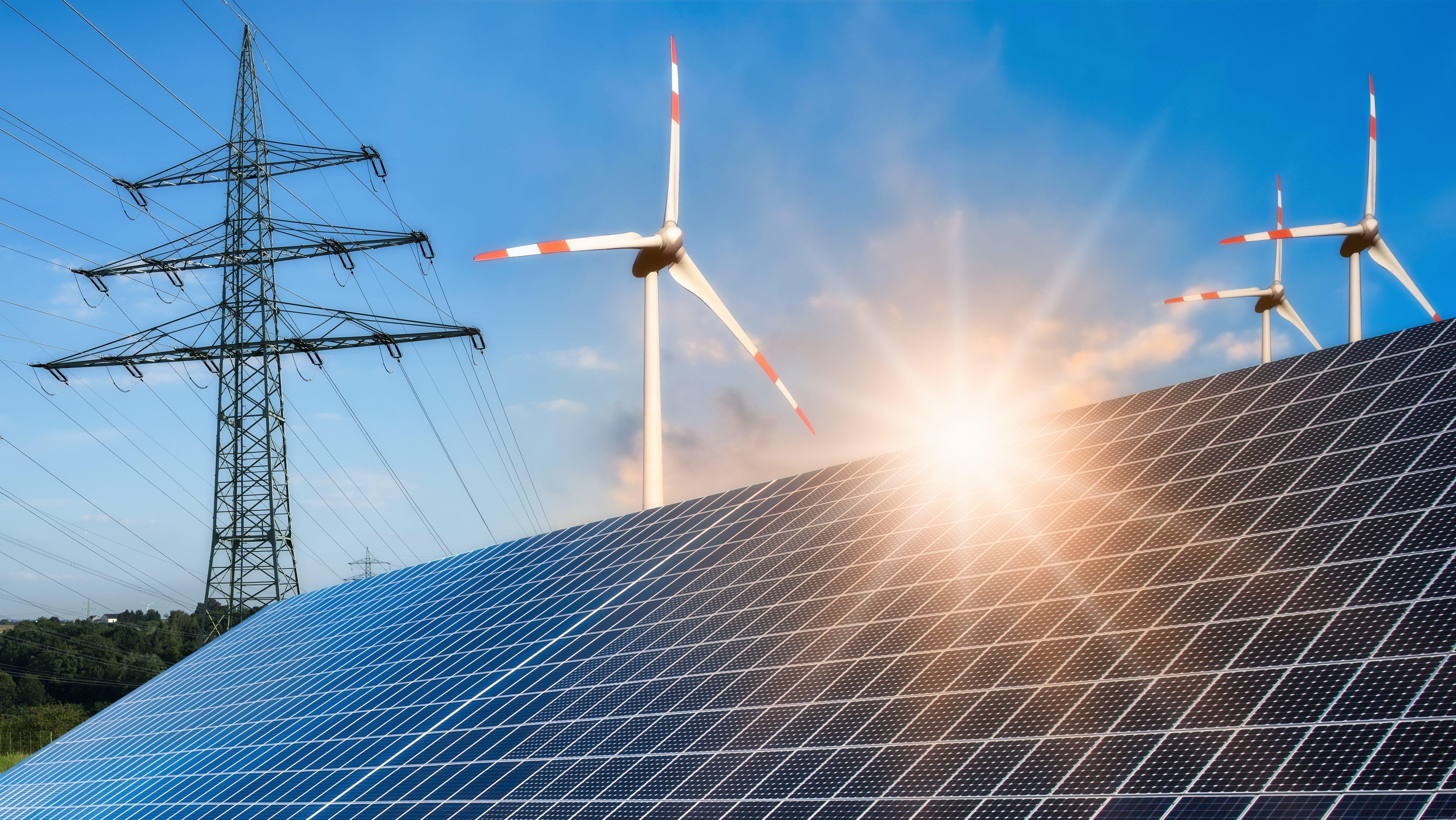 Wind- und Sonnenenergie gewinnen an Wichtigkeit.