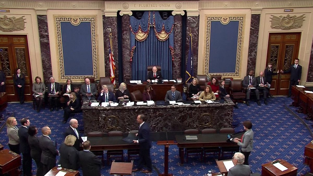 Auftakt zum Amtsenthebungsverfahren gegen US-Präsident Donald Trump im US-Senat