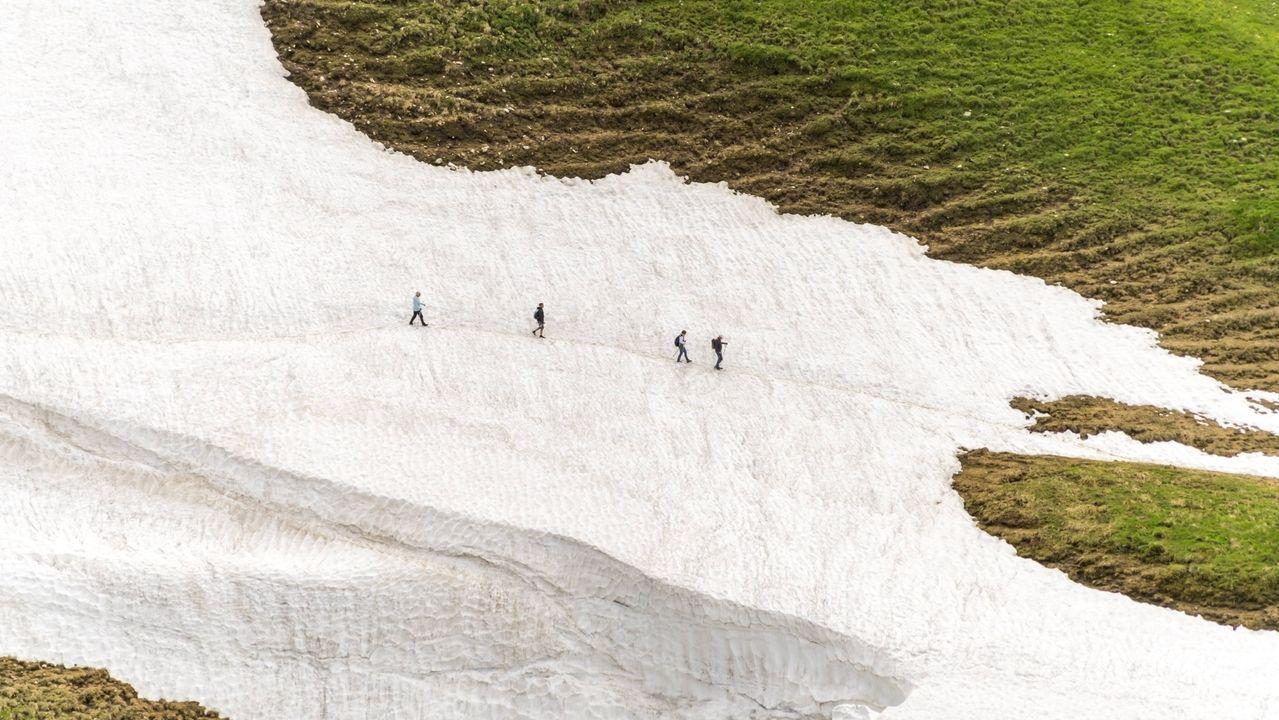Wanderer in den Allgäuer Alpen bei Oberstdorf