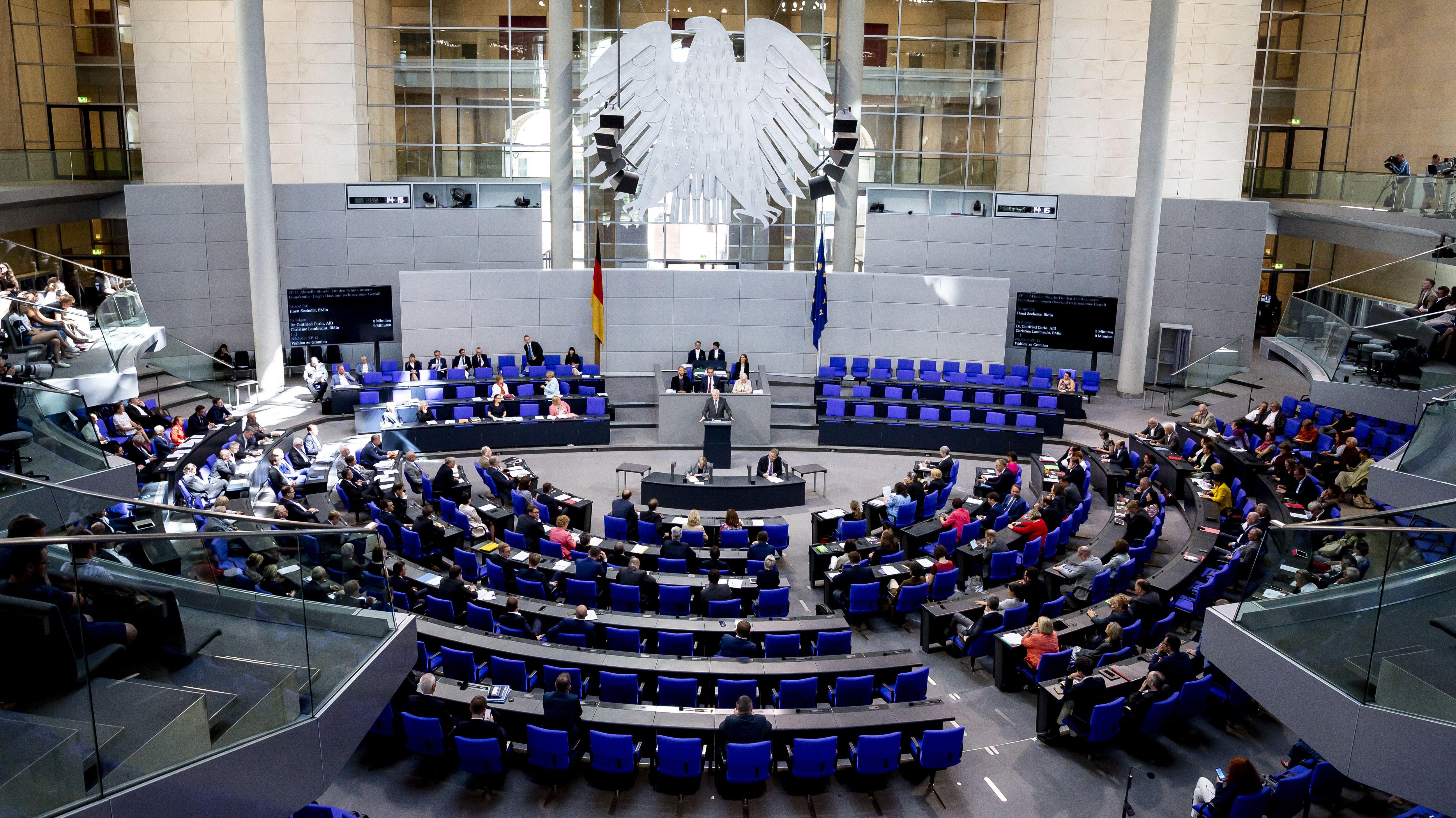 Bundestagssitzung (Symbolbild)