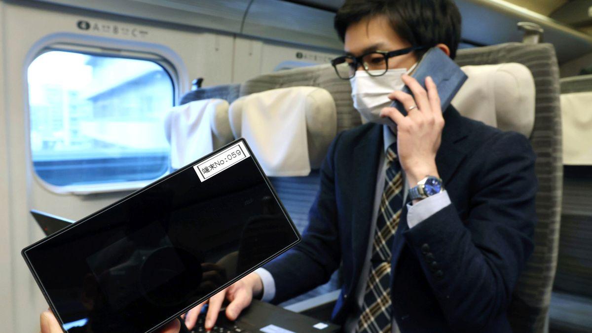 Arbeiten im Shinkansen