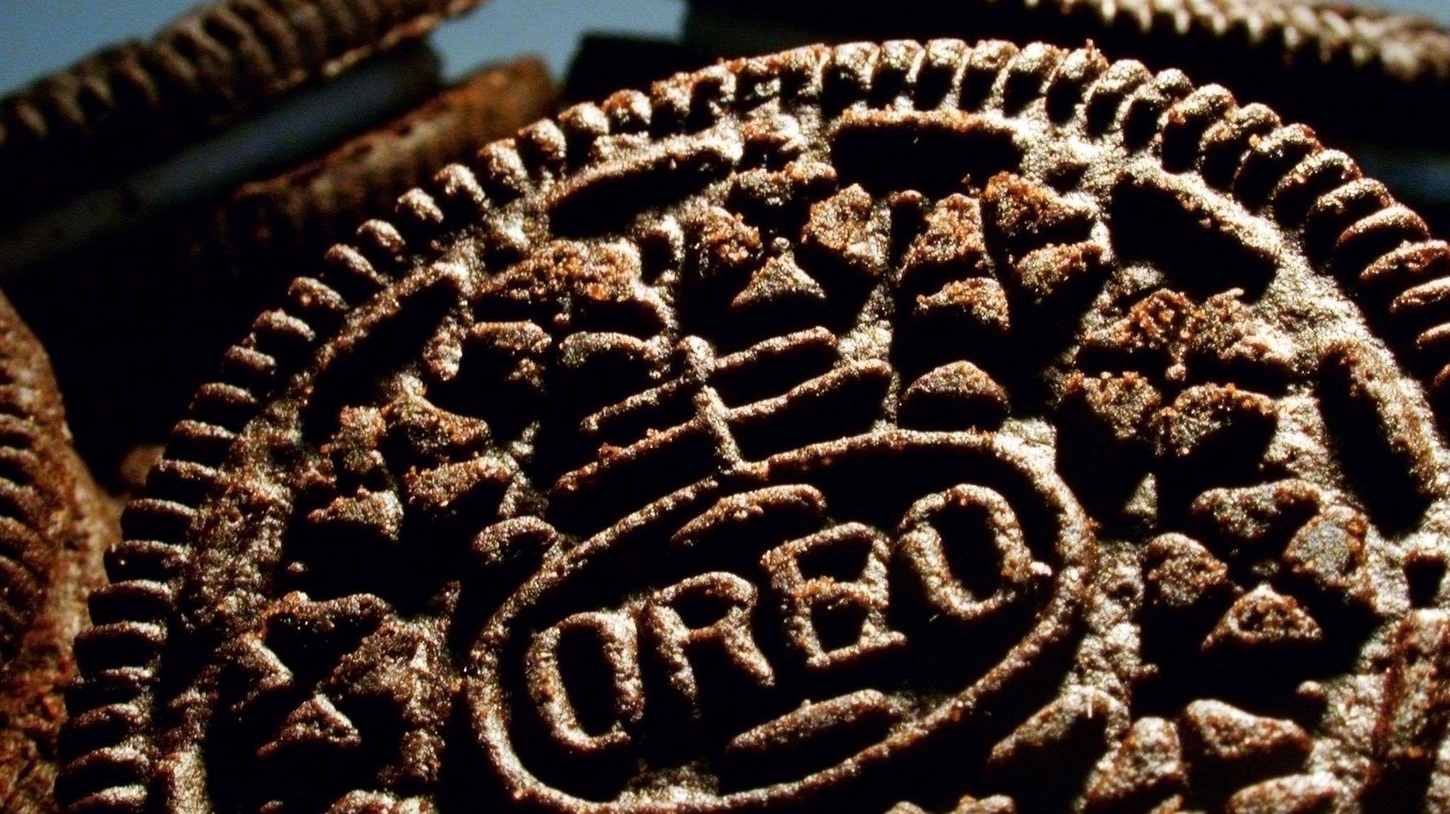 Ein Stapel von Oreo-Keksen