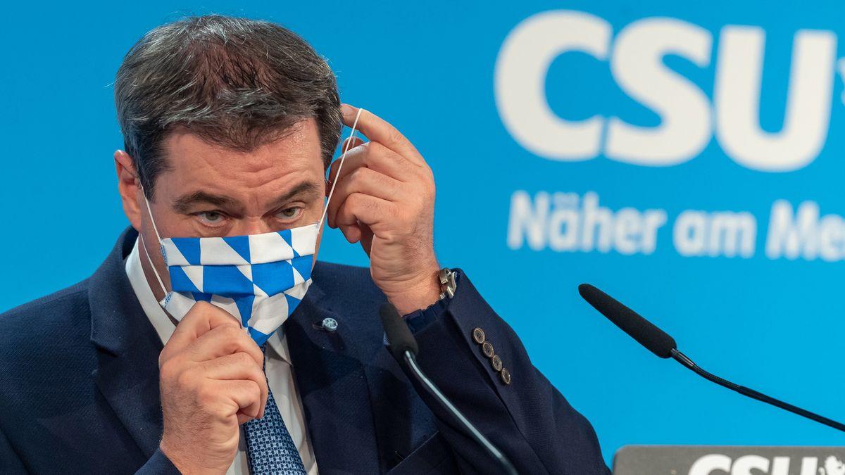 Markus Söder am Montag nach der CSU-Vorstandssitzung.