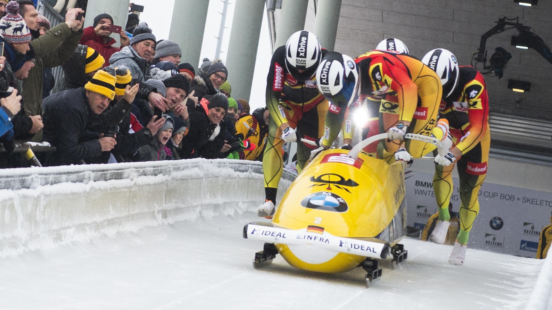 Doppel-Olympiasieger Francesco Friedrich ist mit seiner Crew erfolgreich