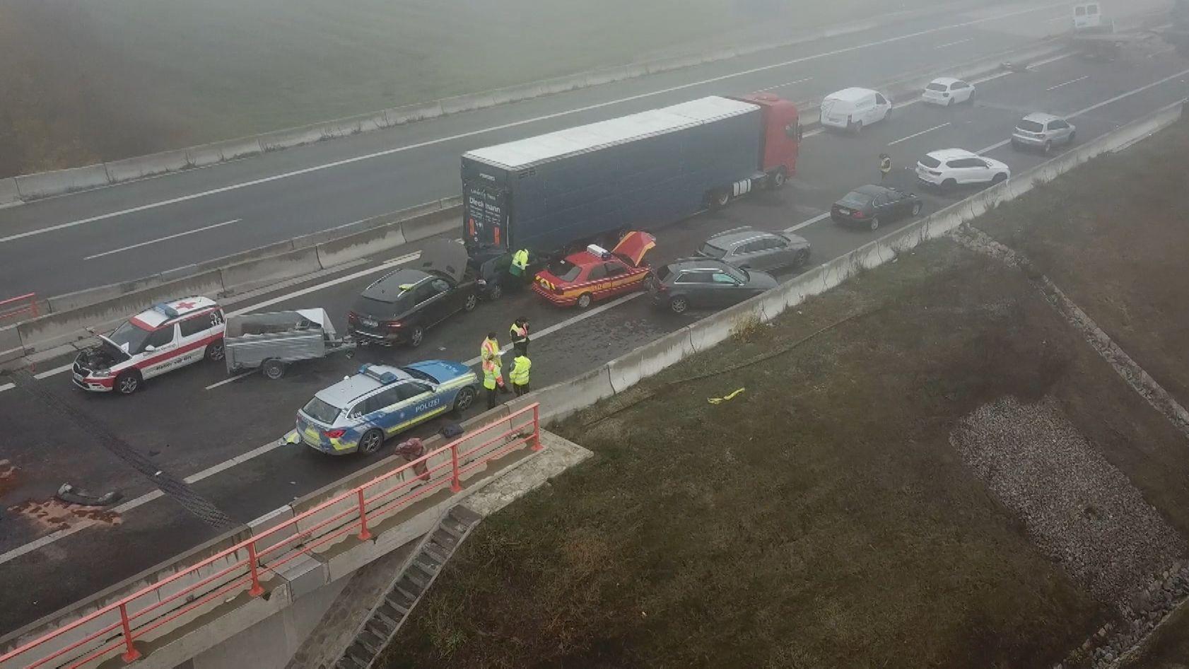 Unfall auf der A7