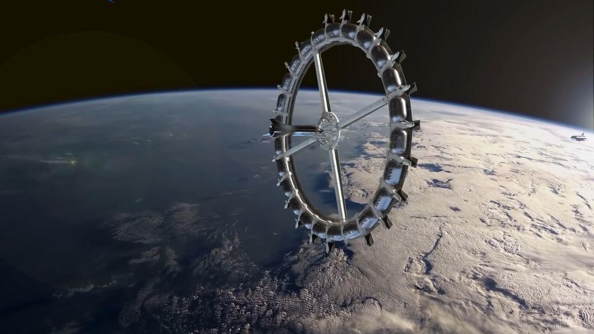 Darstellung eines Weltraumhotels
