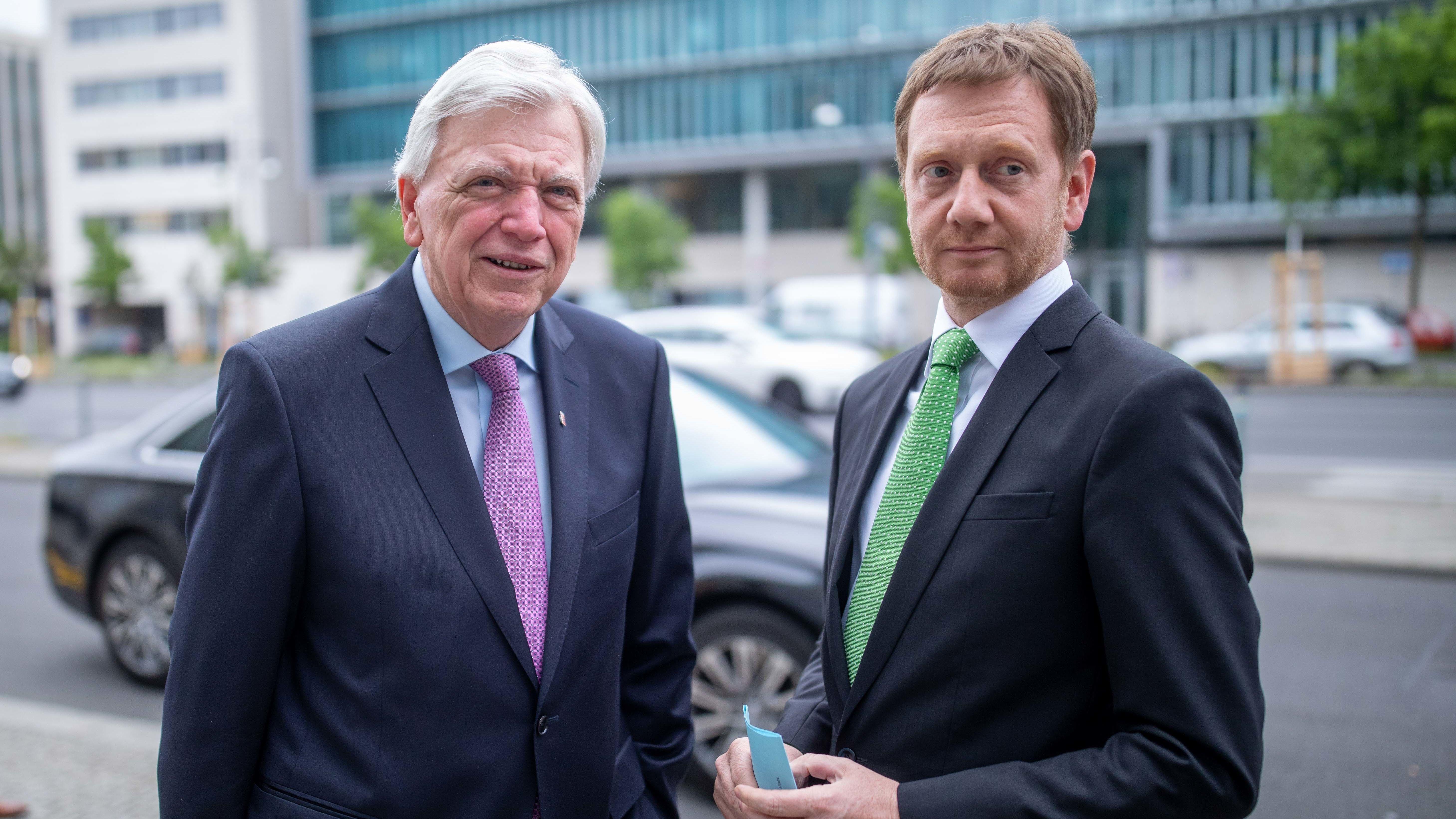 Volker Bouffier (CDU), Ministerpräsident in Hessen und Michael Kretschmer (CDU), Ministerpräsident von Sachsen.