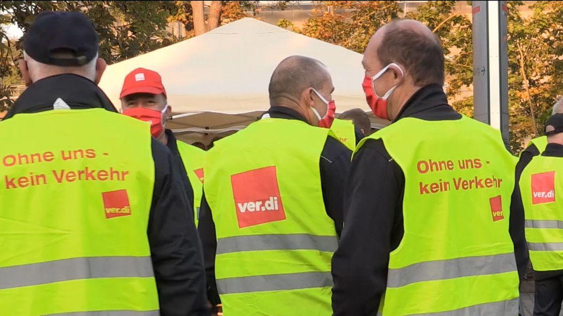 Mitarbeiter im öffentlichen Dienst streiken in Franken