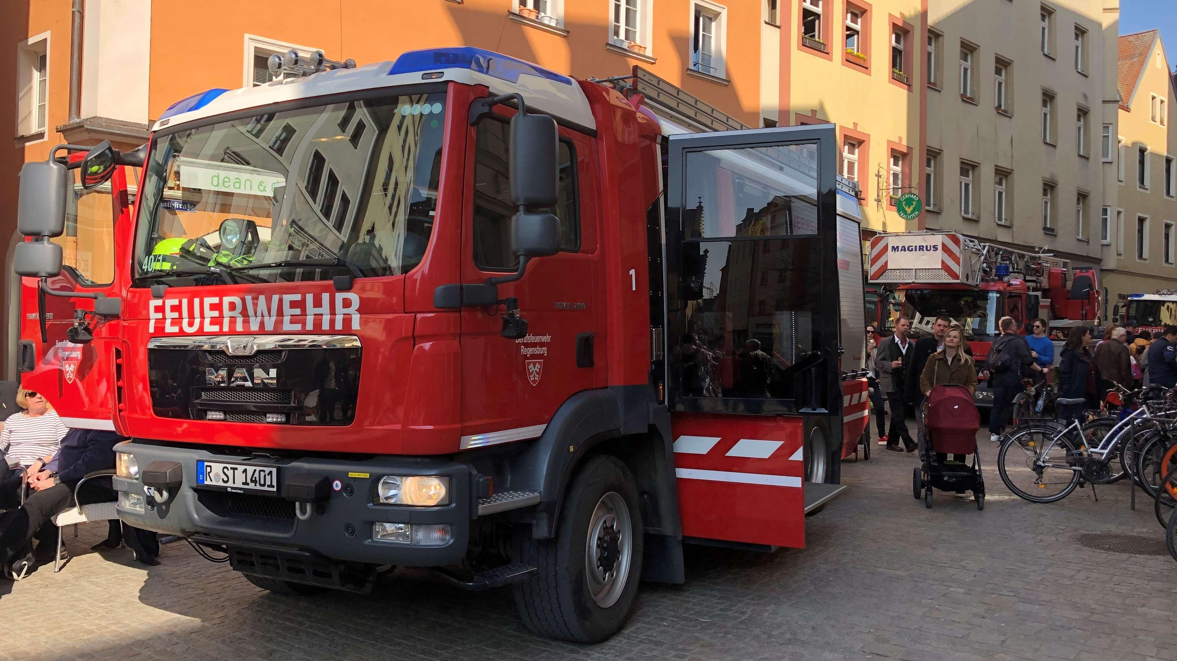 Einsatz der Feuerwehr in der Regensburger Altstadt