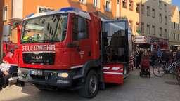 Einsatz der Feuerwehr in der Regensburger Altstadt | Bild:BR/Rudolf Heinz