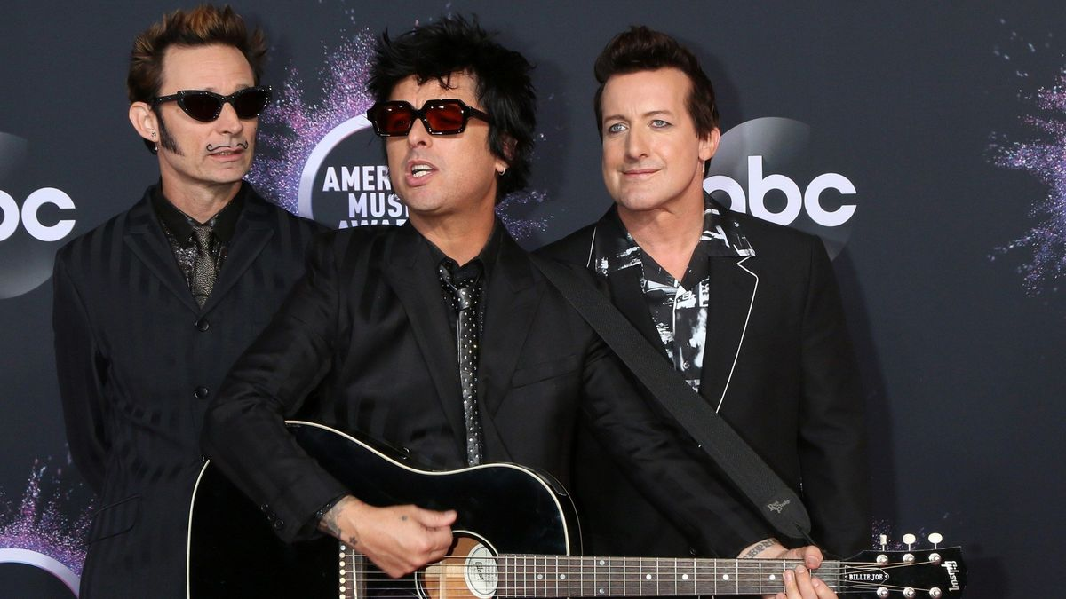 Green Day bei den American Music Awards in Los Angeles