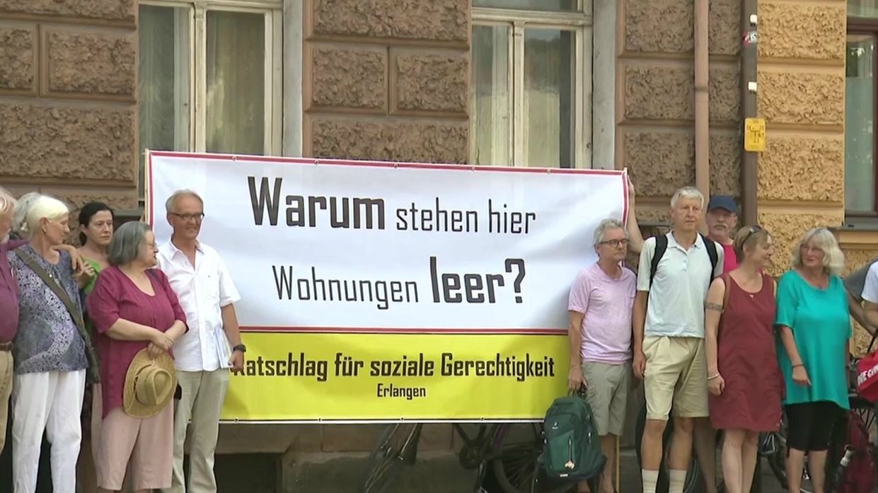 Anwohnerprotest in Erlangen