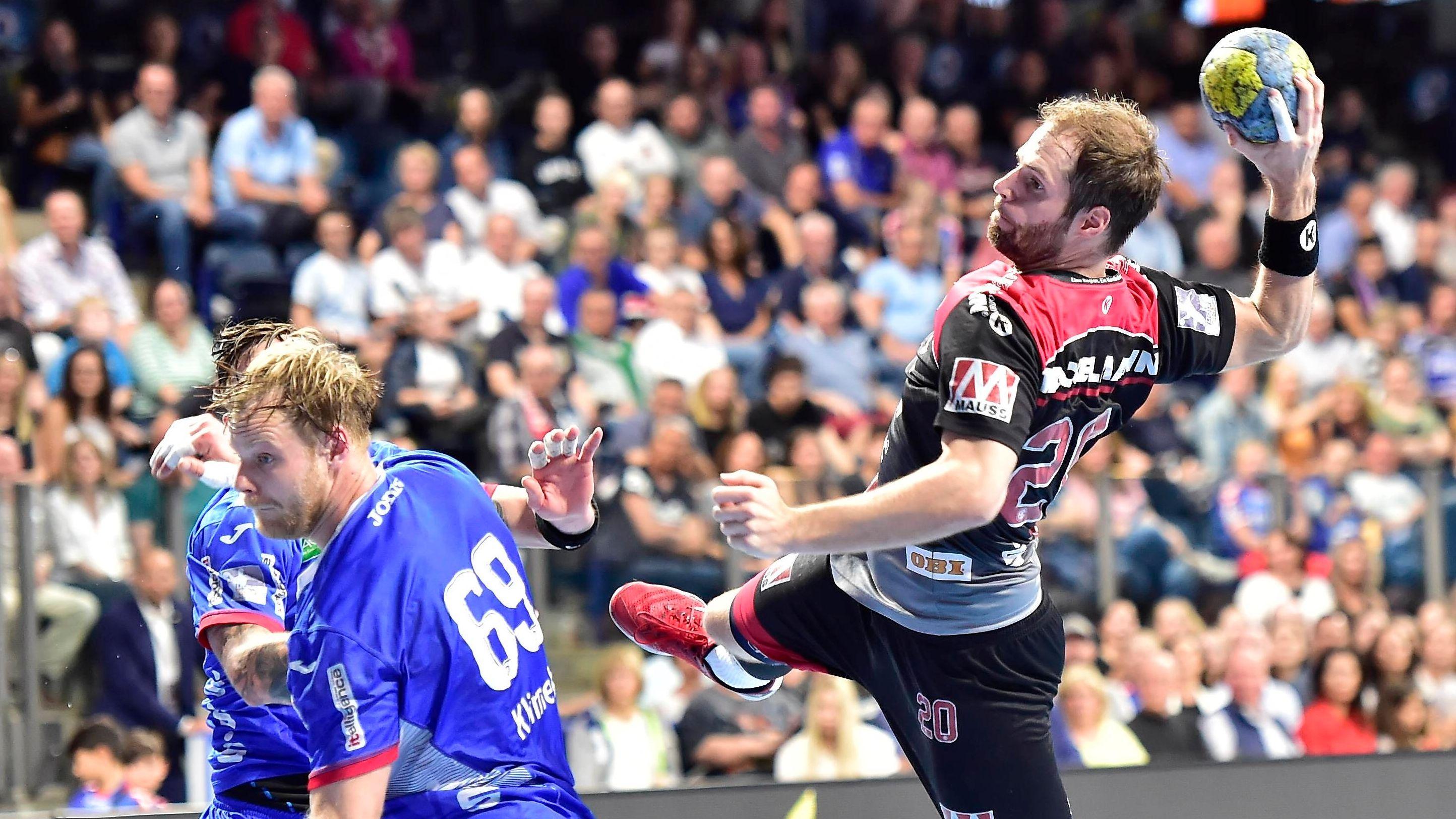 Spielszene HC Erlangen - TBV Lemgo