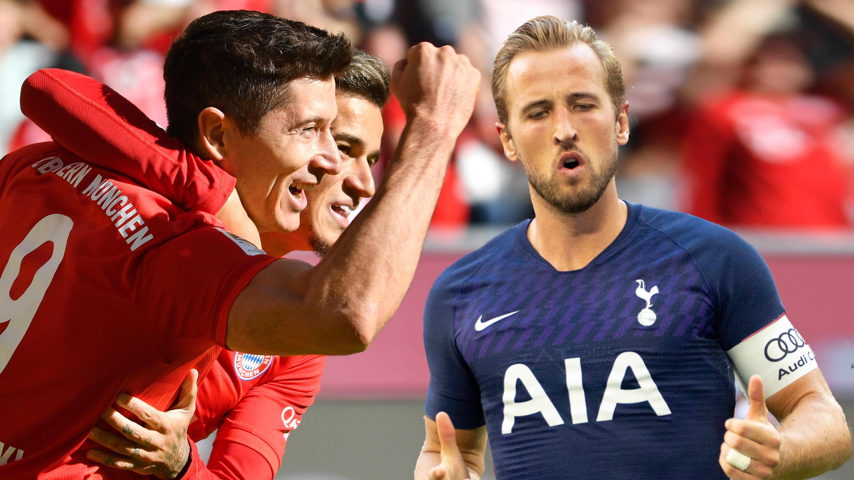 Robert Lewandowski, Philippe Coutinho (FC Bayern) und Harry Kane (Tottenham)