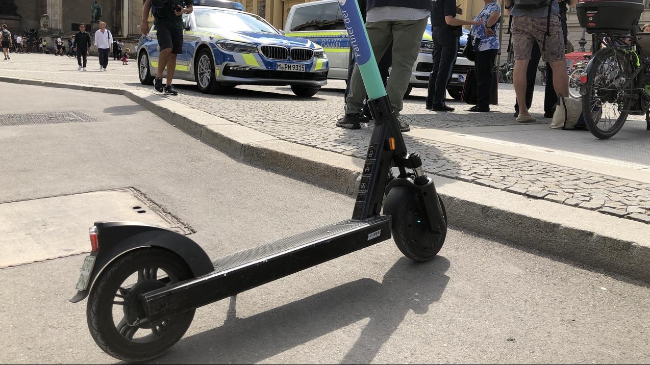 E-Scooter in München.