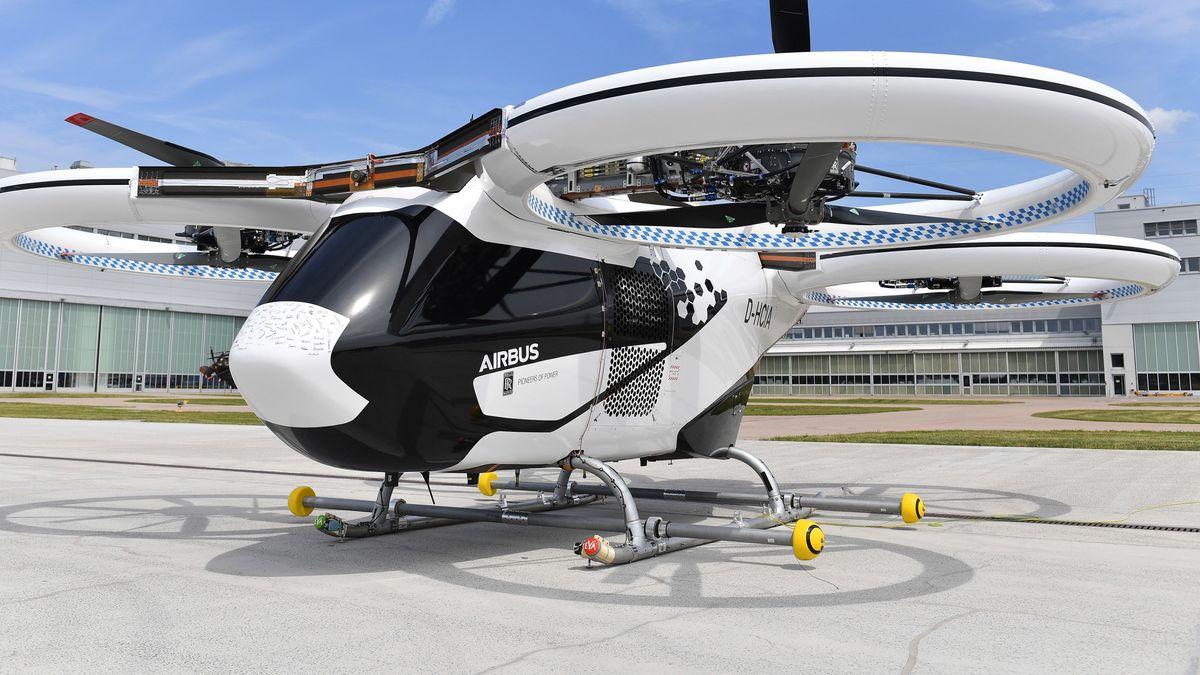 Das Flugtaxi CITYAIRBUS. Airbus will das Projekt in Donauwörth weiter entwickeln. Zuvor hatte es Gerüchte um dessen Einstellung gegeben