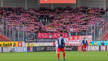"""Zwickau-Fans und die umstrittene """"Red Kaos""""-Zaunfahne"""