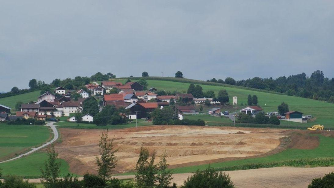 Das umstrittene Baugebiet in Röhrnbach