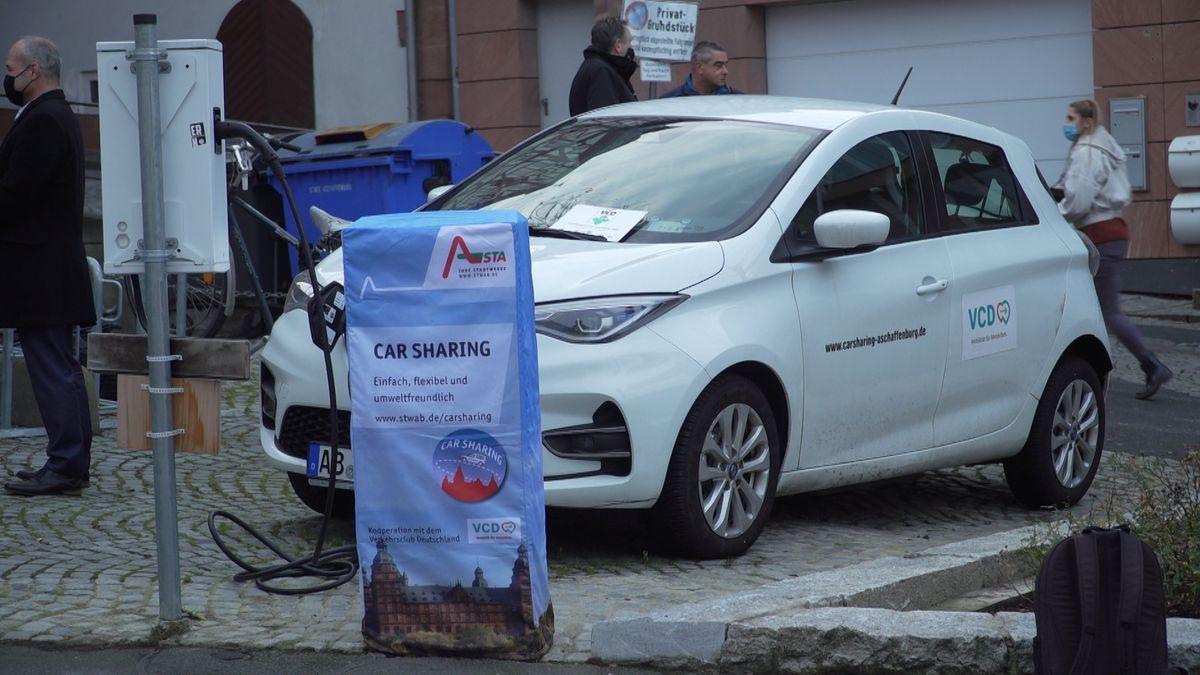 Eines der neuen Elektro-Autos der Aschaffenburger Car-Sharing-Flotte