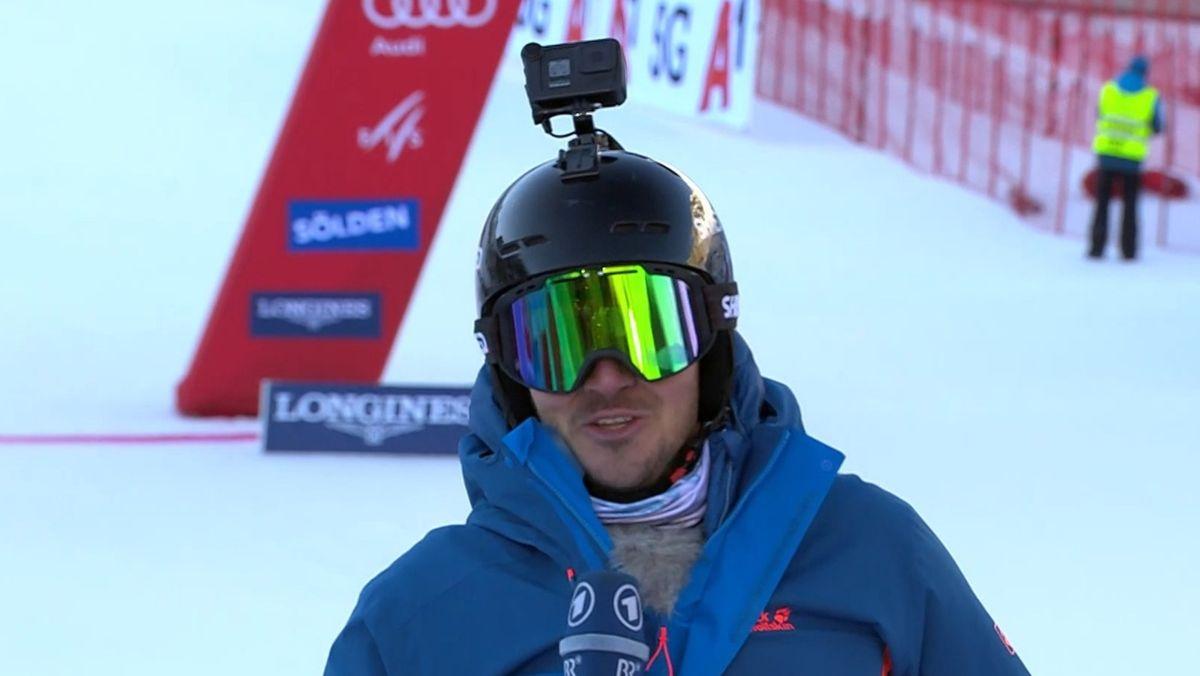 Der ARD- und BR-Wintersportexperte Felix Neureuther erreicht das Ziel.