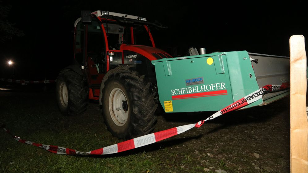 Traktor mit Container | Bild:BR/News5