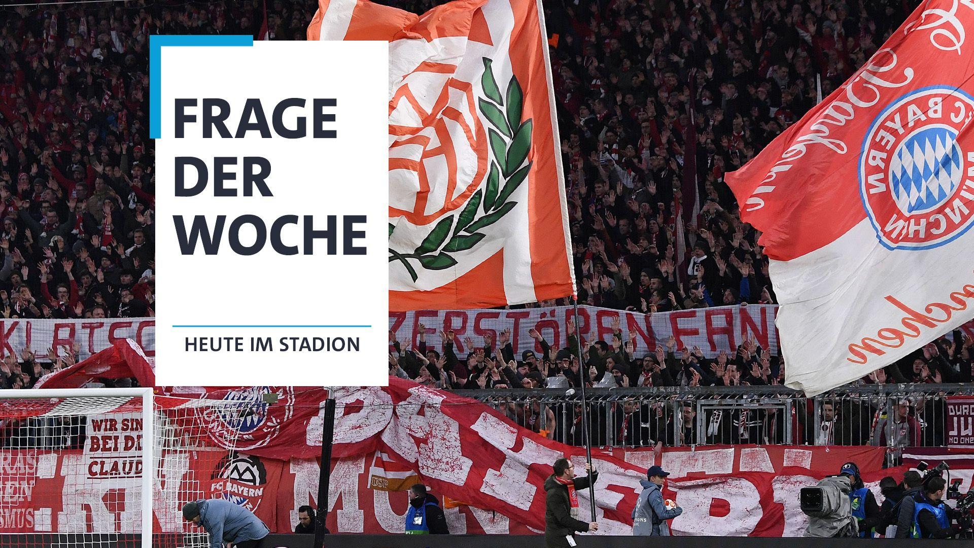 Auch die Bayern-Fans beteiligten sich an den Protesten.
