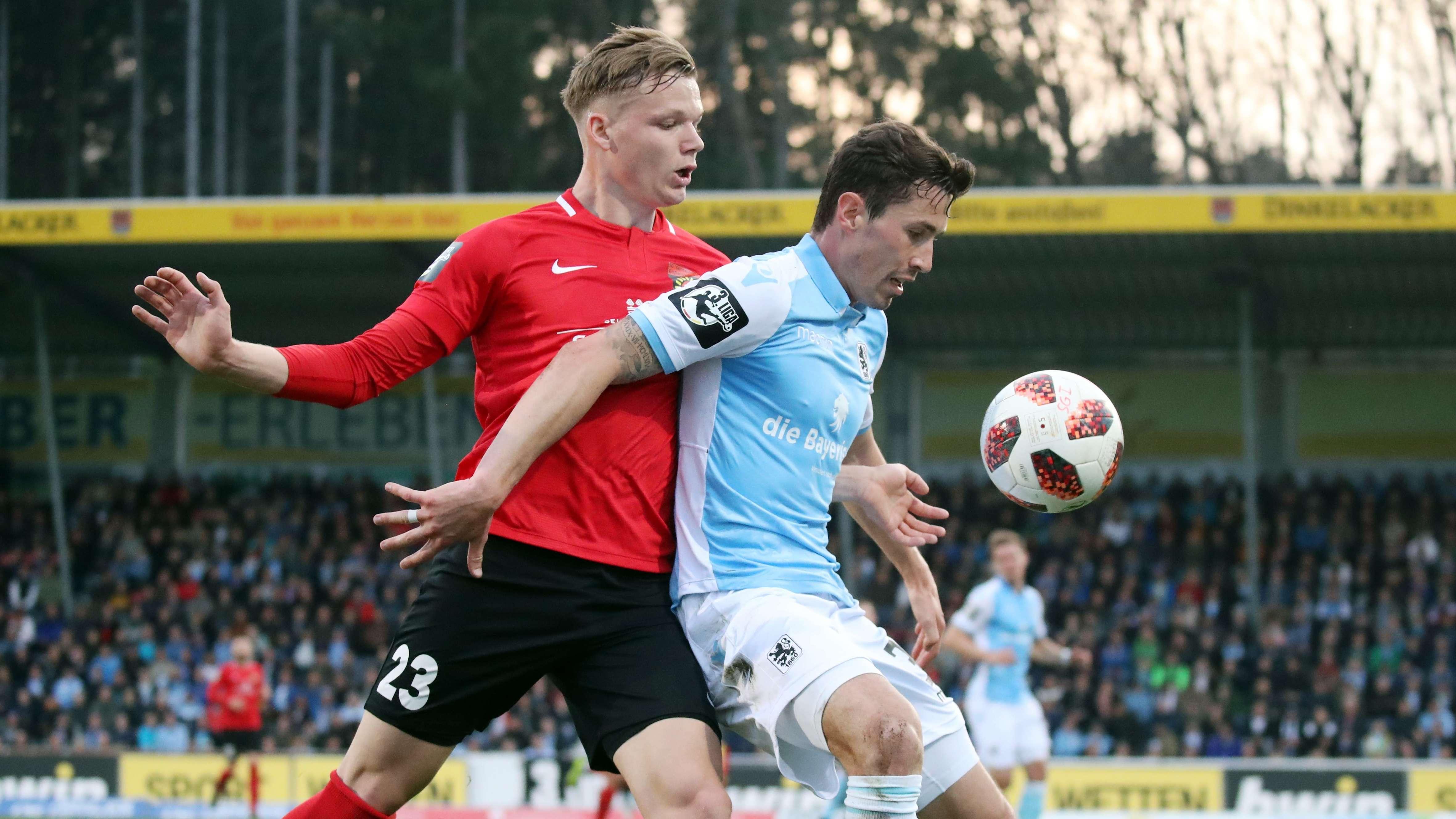 Spielszene SG Sonnenhof Großaspach - TSV 1860 München
