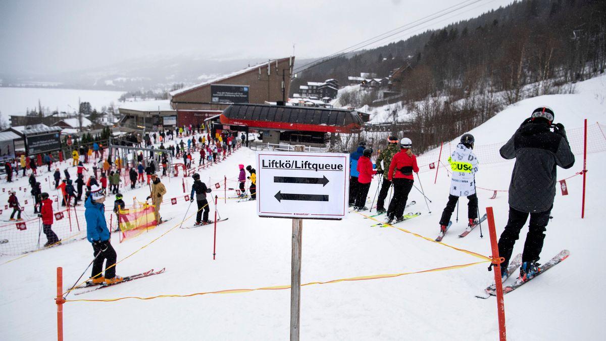 Sportferien in Schweden. Skifahren trotz Corona