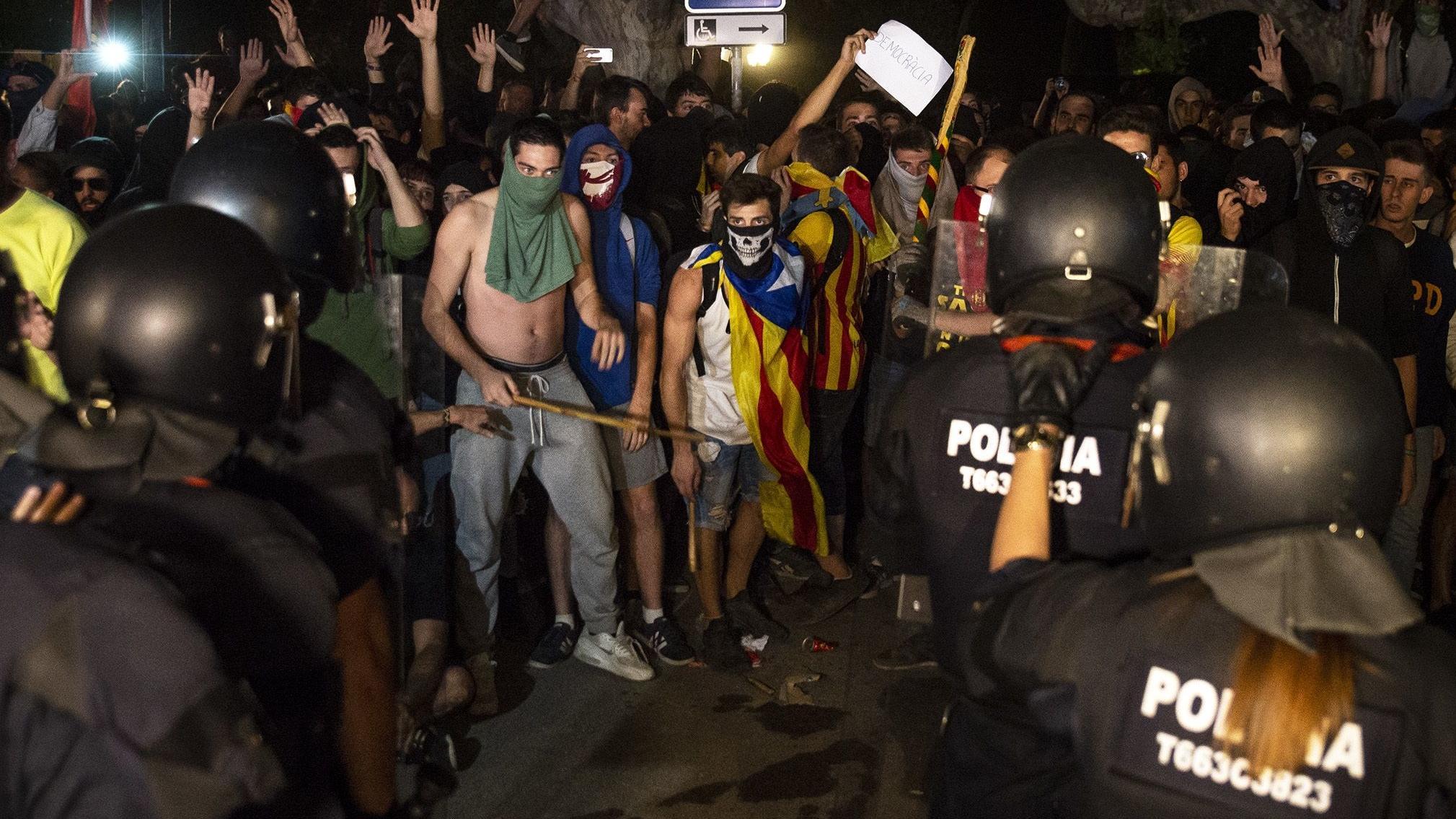 Radikale Demonstranten in Barcelona
