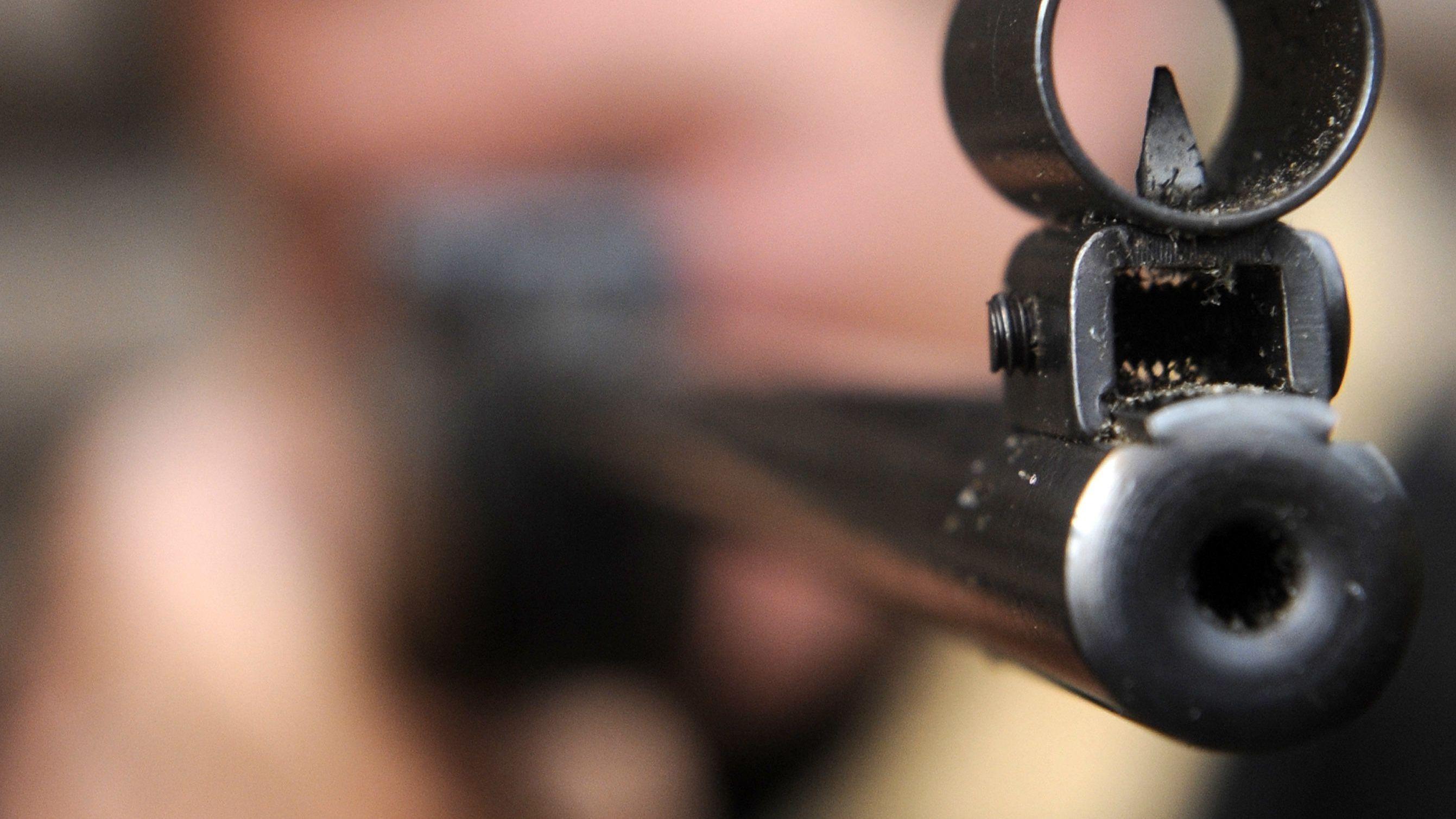 Die Mündung eines Luftgewehrs (Symbolbild)